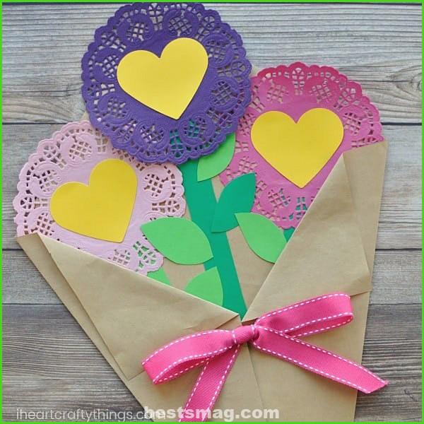Bouquet flowers paper crafts