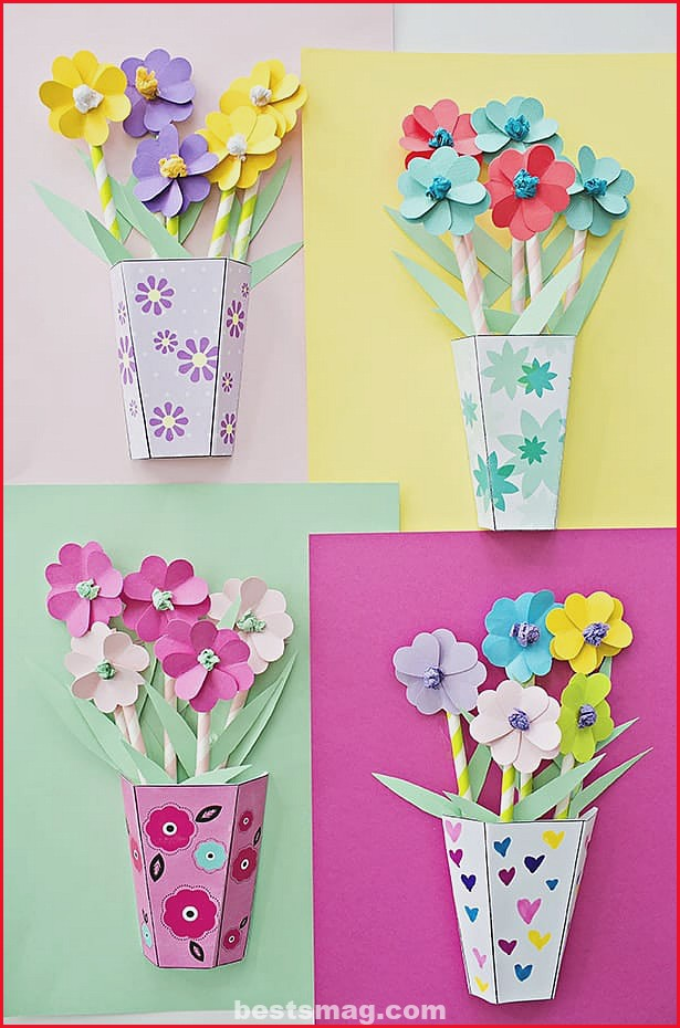 Crafts bouquets of flowers mother's day