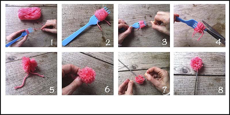 DIY wool bouquet