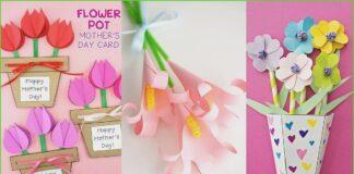 Manualidades de ramos de flores para hacer con niños