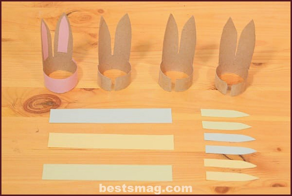 Egg holders step by step