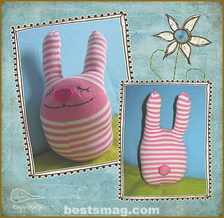 easter rabbits with socks