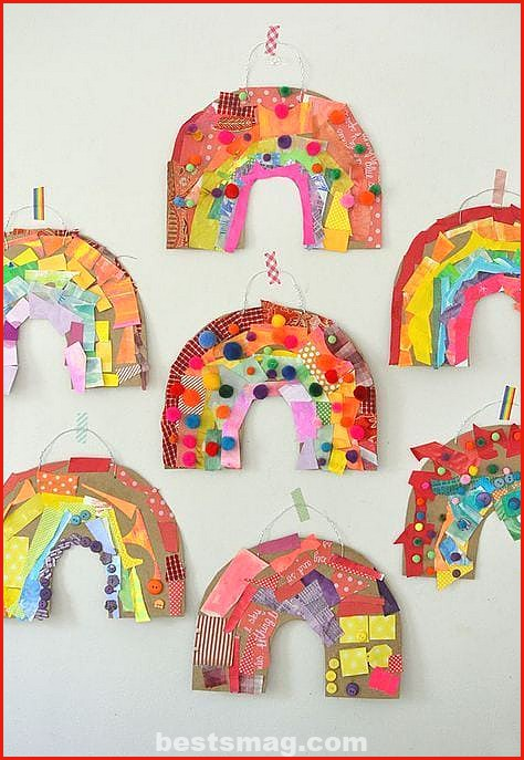Spring crafts with recycled material