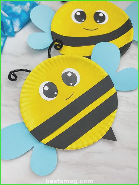 Spring crafts with cardboard plates