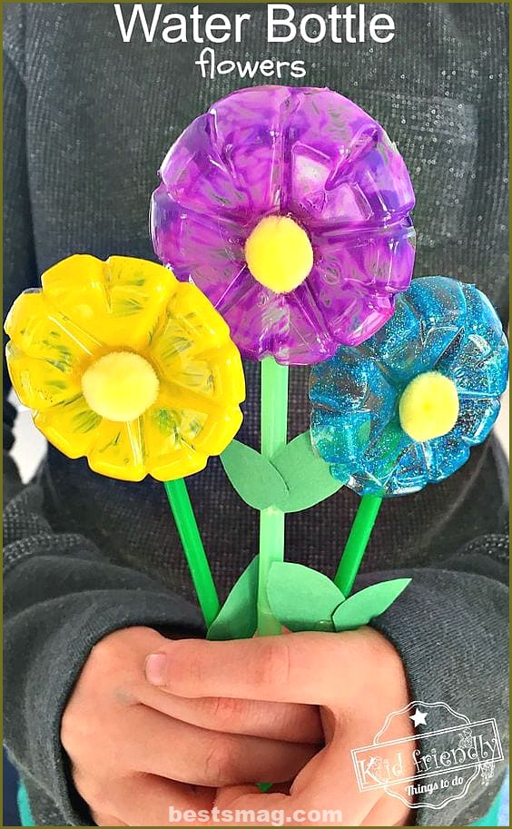 Children's crafts with recycled bottles