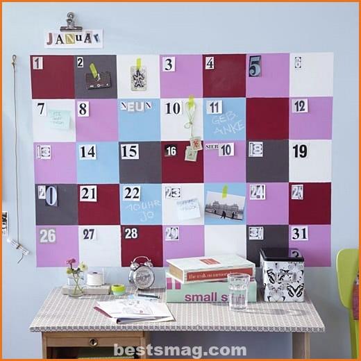 Weekly schedule of activities
