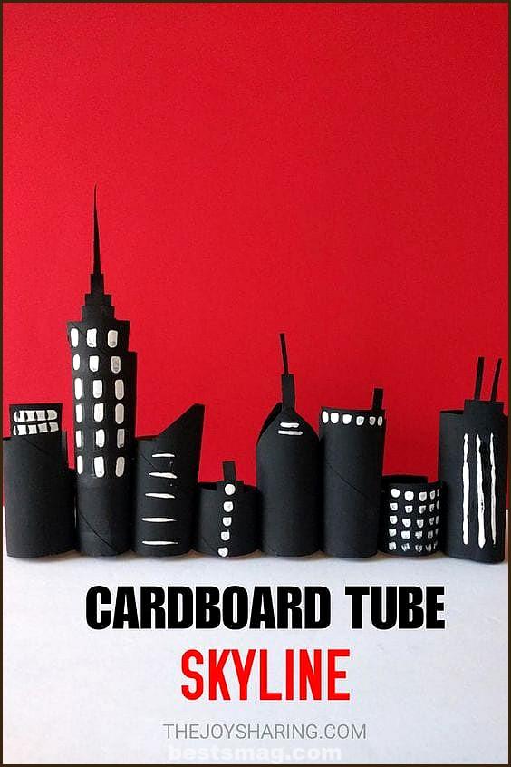Cardboard tube crafts