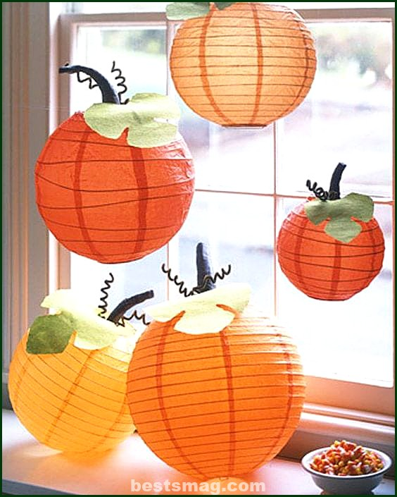How to make paper pumpkins