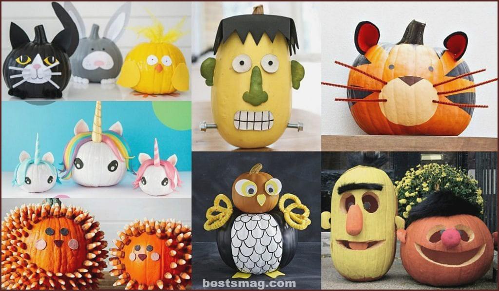 Ideas to decorate Halloween Pumpkins with children