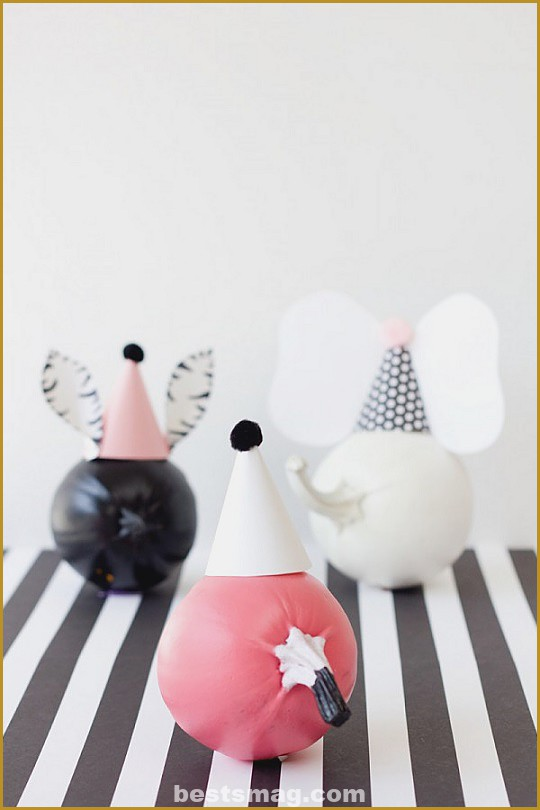 Decorate pumpkins with animal designs