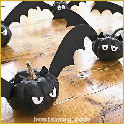 Decorate Halloween pumpkins for kids
