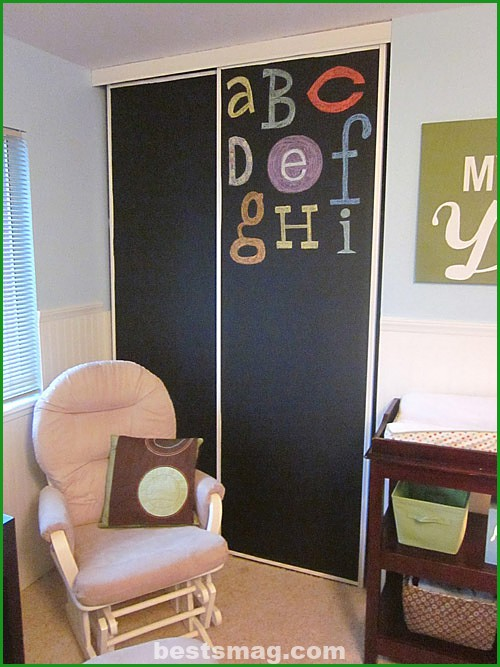 Blackboard paint for children's cabinets