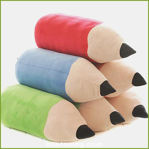 Pencil shaped cushion