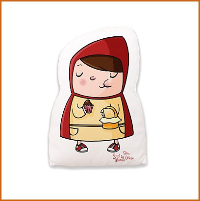 Decorative cushions Little Red Riding Hood and the Wolf