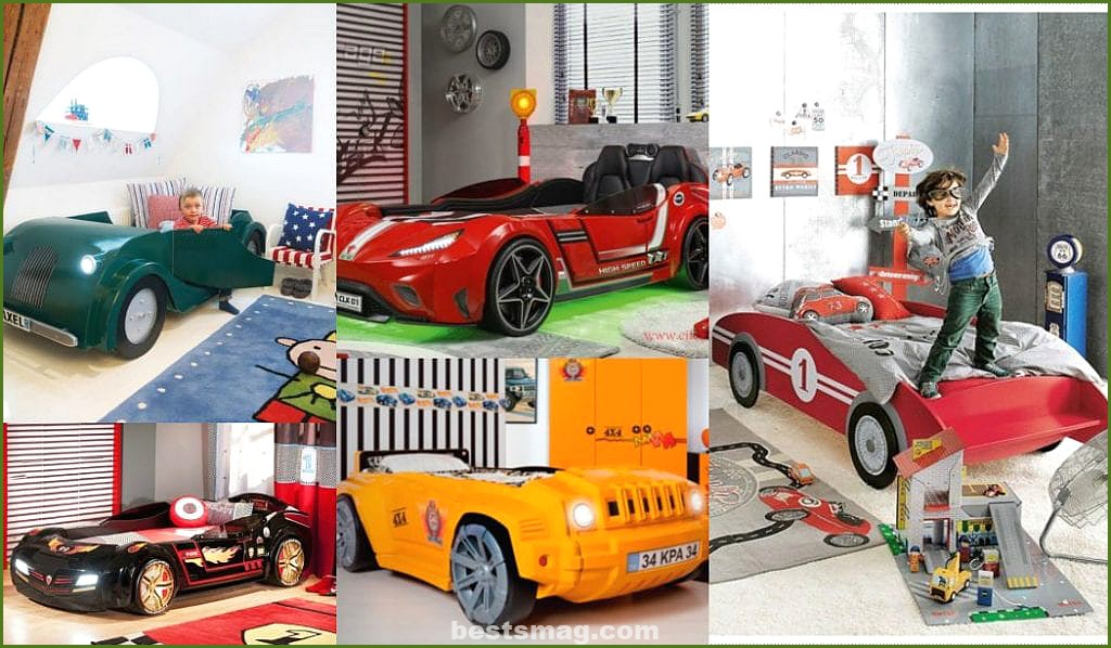 Car-shaped bed for children - Models, photos, rooms