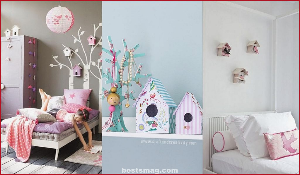Decoration with little bird houses