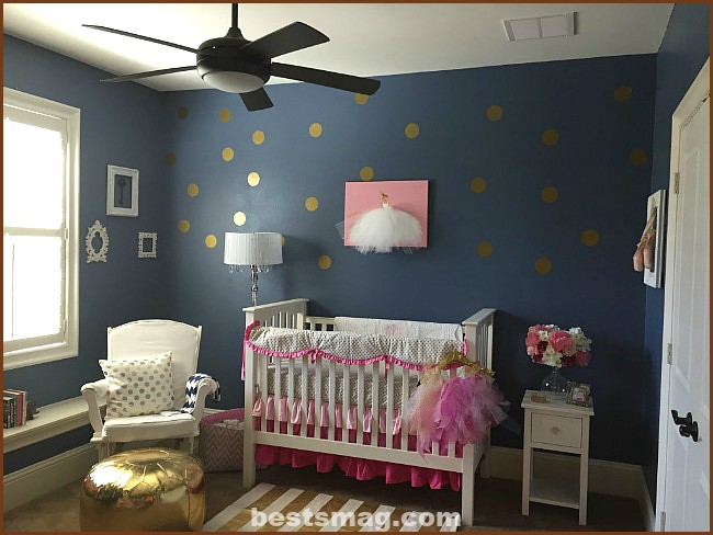 blue-gold-baby-room