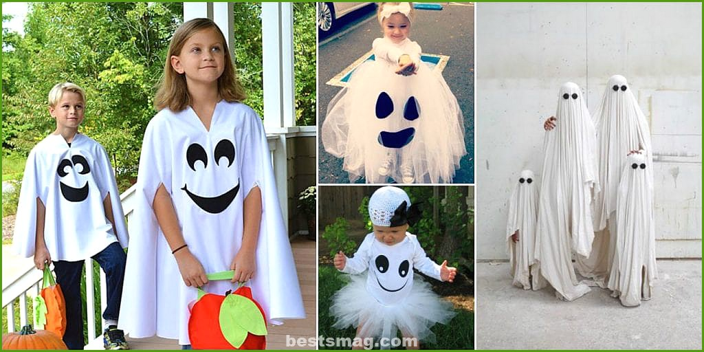 Homemade ghost costumes