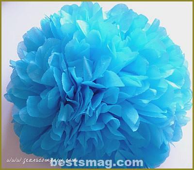 how to make a paper pompom