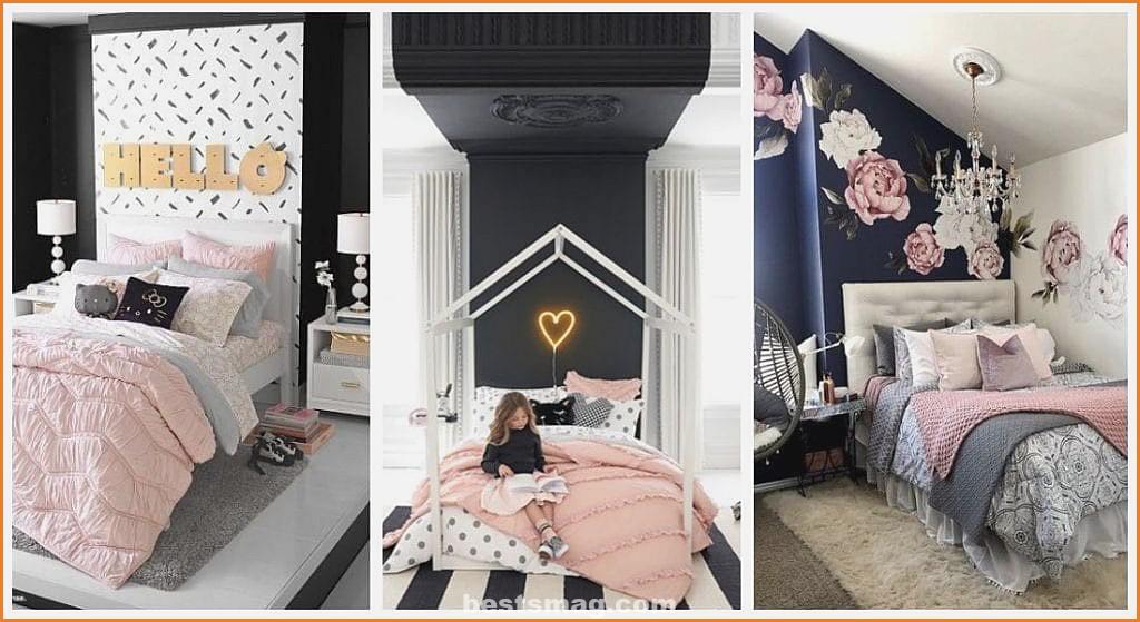 Black pink bedrooms